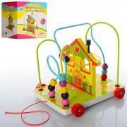 Игрушка развивающая для детей деревянный пальчиковый лабиринт - каталка «Лабиринт»