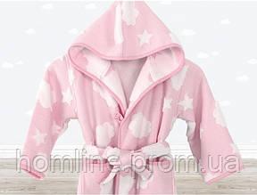 Халат детский Irya Cloud розовый на 3-4 года