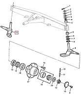 Кулак поворотный правый John Deere, код запчасти AZ56707.P