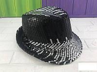 Шляпа диско с пайетками