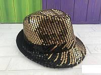 Шляпа диско с золотыми пайетками