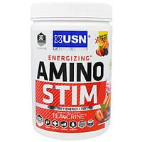 USN, Energizing Amino Stim для повышения энергии, фруктовый пунш, 11.64 унции(330 г)