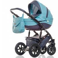 Дитяча універсальна коляска 2 в 1 Broco Eco 04 блакитна, фото 1