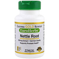 California Gold Nutrition, CGN, EuroHerbs, Крапива XT 250 mg, VC MB, 60 карат