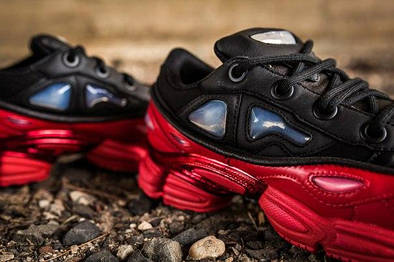 a278ea1a0be0 Женские кроссовки Adidas x Raf Simons Ozweego Bunny Red Black ...