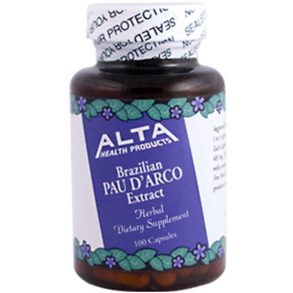 Alta Health, Brazilian Pau D' Arco Extract, 100 Capsules