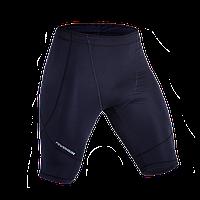 Компрессионные мужские шорты темно синие (черный шов) для спорта