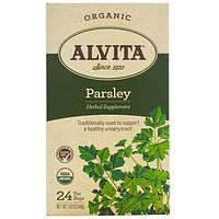 Alvita Teas, Organic, Parsley Tea, Caffeine Free, 24 Tea Bags, 1.69 oz (48 g)