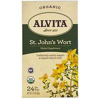 Alvita Teas, Organic, St. John's Wort Tea, Caffeine Free, 24 Tea Bags, 1.13 oz (32 g)