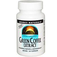 Source Naturals, Экстракт зелёного кофе, 400 мг, 60 капсул