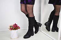 Женские зимние сапожки чёрные Jenna