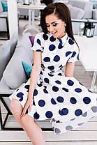 Расклешённое платье в горошек , фото 2