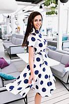 Расклешённое платье в горошек , фото 3