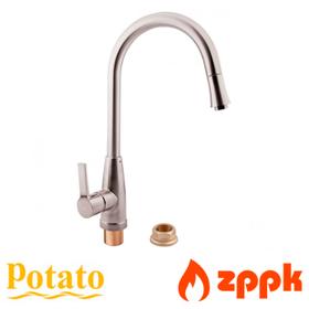 Смеситель для кухни с выдвижным изливом Potato P908-1