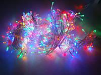 Гирлянда LED 100 лампочек на 6,5 м цветная, фото 1