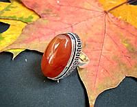 Серебряное кольцо с сердоликом 16,25 р