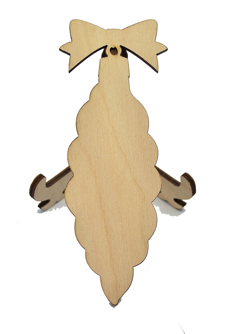 Деревянная новогодняя игрушка заготовка. Игрушка крученая без гравировки
