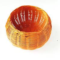 Кашпо плетеная корзина тыква 13 см