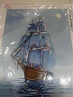 Основа для вышивания бисером Корабль, Парусник, ВДВ, 27 * 36 см