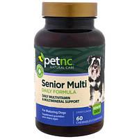 21st Century, Натуральный уход за домашними животными, многодневная формула для взрослых собак, для взрослых собак, со вкусом печенки, 60 жевательных