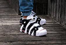 Баскетбольные кроссовки Nike Air More Uptempo Black/White, фото 2