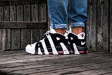 Баскетбольные кроссовки Nike Air More Uptempo Black/White, фото 3