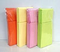 Салфетка нагрудник медицинская стоматологическая, 25 шт (желтая, салатовая, розовая, оранжевая)