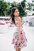 Милое платьеце в цветочный принт с поясом, фото 2