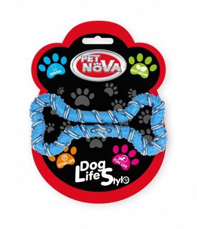 Іграшка для собак Шнур-кісточка Pet Nova 20 см синій