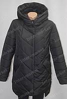 Дуже тепла жіноча зимова куртка чорна батал 48-56р