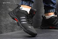 Чоловічі зимові  кросівки  Adidas Climaproof  (3466) чорні  з  сірим
