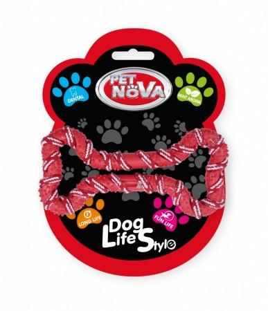 Игрушка для собак Шнур-косточка Pet Nova 20 см красный