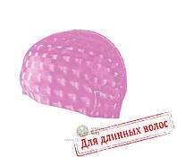 Шапочка для плавания лайкра Spokey Torpedo 3D (original) для бассейна, для длинных волос, полиуретан