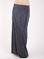 Гофрированная юбка в пол серая Ю79 50