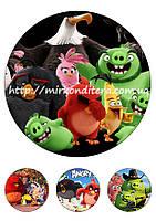 Сахарная картинка на торт Angry Birds 1