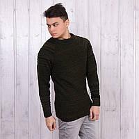 Недорогой свитер мужской крупной вязки Турция W11-002haki