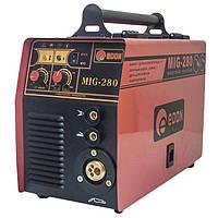 Сварка инверторная полуавтомат Edon MIG-280, полуавтомат 2 в 1, еврорукав, металлическая протяжка, возможность сварки электродом и проволокой