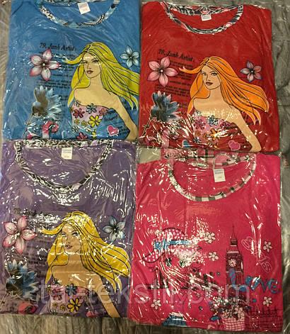 KSM пижама на девочку штаны и футболка тоненький хлопок (5-14 лет), фото 2