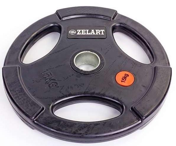 Диски професійні обгумовані ZEL 10 кг
