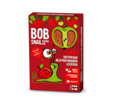 Натуральні яблучно-вишневі цукерки Snail Bob Равлик Боб, 120 г