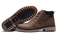 Зимние ботинки мужские Anser Design, натуральная кожа, на меху, оливковые, р. 40 43 44 45