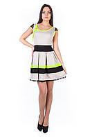 Платье «Луиза 2068» Светло - бежевый лимон неон L