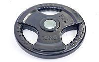 Блины (диски) обрезиненные с тройным хватом и металлической втулкой d-52мм 10кг