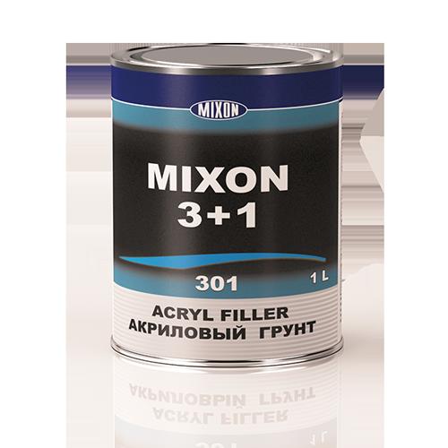 Автомобильный акриловый грунт MIXON 3+1. Черный. 1 л