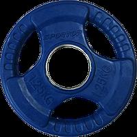 Блины (диски) обрезиненные с тройным хватом SPORTOP 1,25 кг