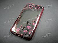Полимерный TPU чехол Samsung Galaxy J7 2015 J700 (розовый), фото 1