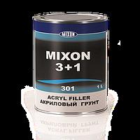Автомобильный акриловый грунт MIXON 3+1. Красный. 1 л