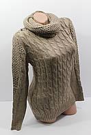 Свитера женские с шарфом оптом P-LA 120