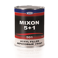Автомобильный акриловый грунт MIXON 5+1. Черный. 1 л