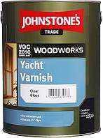 Яхтный лак для гладкой, струганной древесины Johnstone's Yacht Varnish глянцевый, 5л.